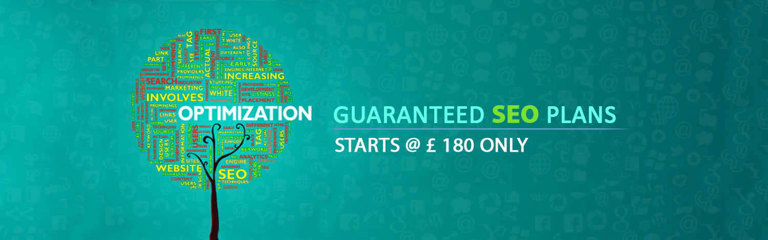Guaranteed SEO Plans starts @ (Pound Sign) 180 only