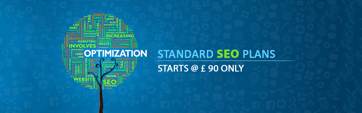 Standard SEO Plans starts @ (Pound Sign) 90 only